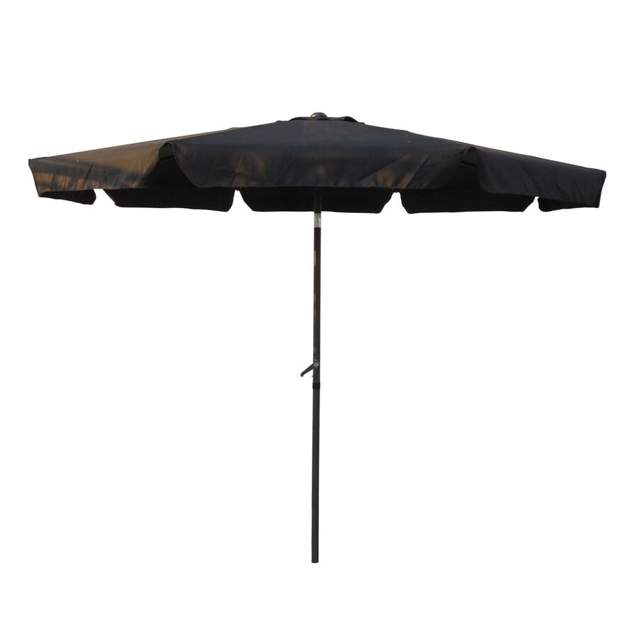 International Caravan Black Market Patio Umbrella (Common: 10-ft W x 10-ft L; Actual: 9.83-ft W x 9.83-ft L)
