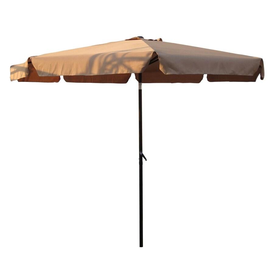 International Caravan Khaki Market Patio Umbrella (Common: 10-ft W x 10-ft L; Actual: 9.83-ft W x 9.83-ft L)
