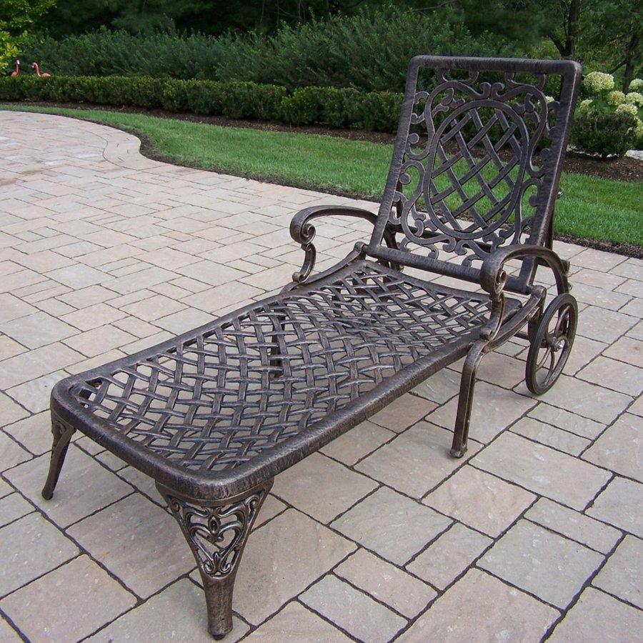 Oakland Living Mississippi Antique Bronze Aluminum Patio Chaise Lounge Chair
