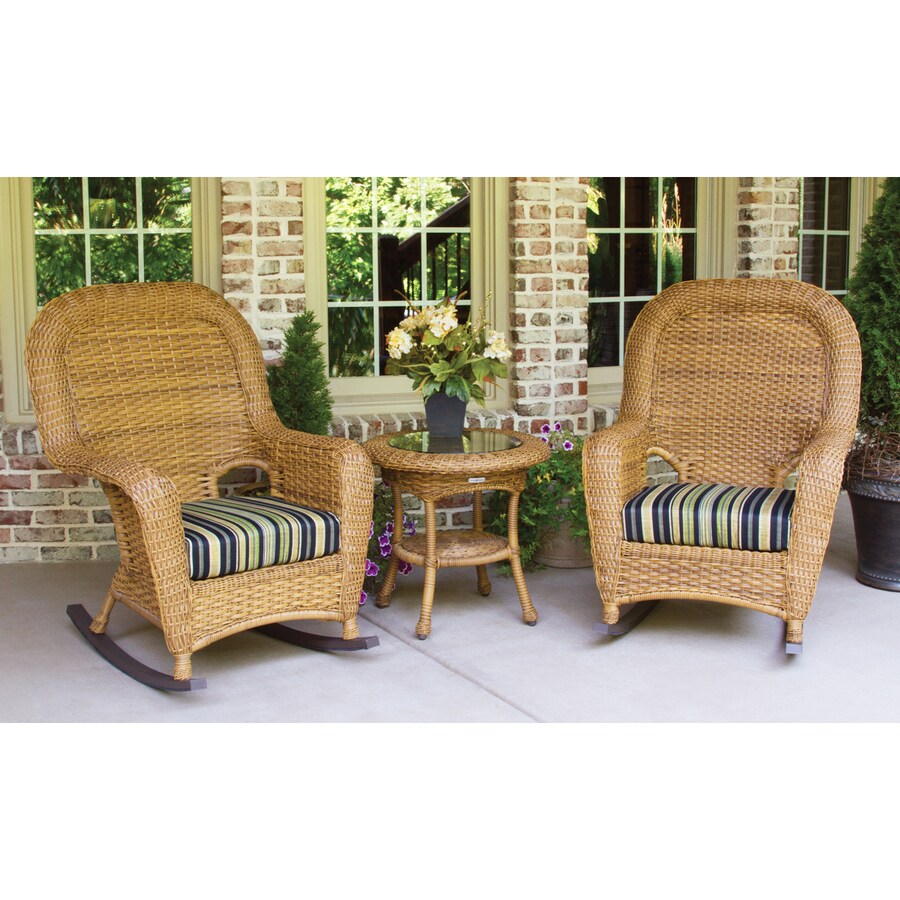 shop tortuga outdoor lexington 3 piece wicker patio conversation set