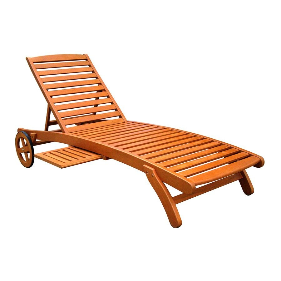 Shop international caravan royal tahiti patio chaise for Chaise lounge construction