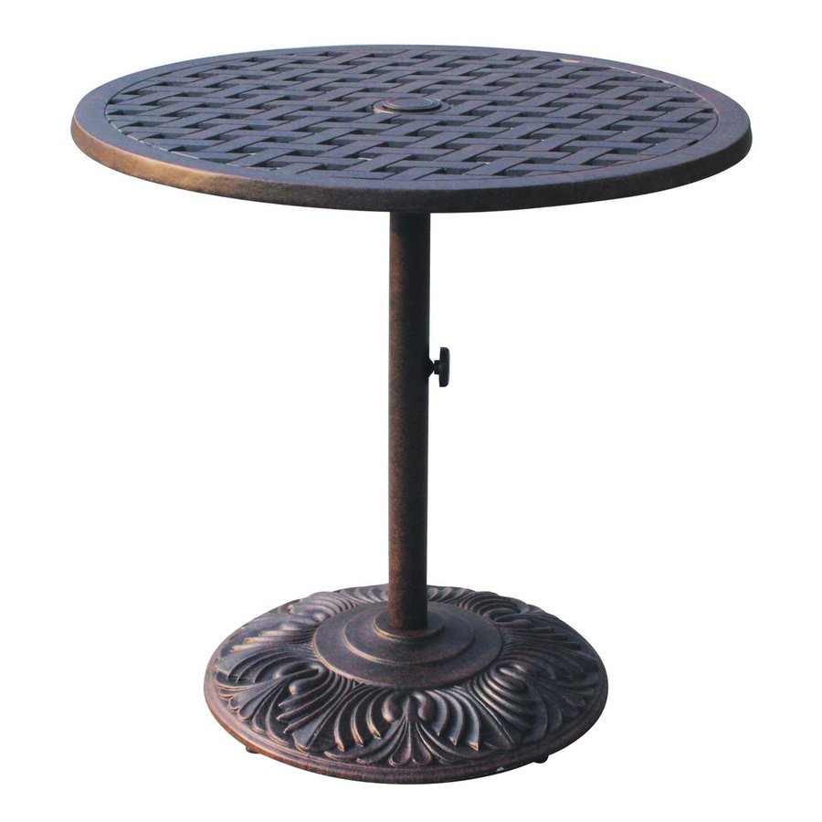 Darlee Series 30 30-in W x 30-in L Round Iron Bistro Table