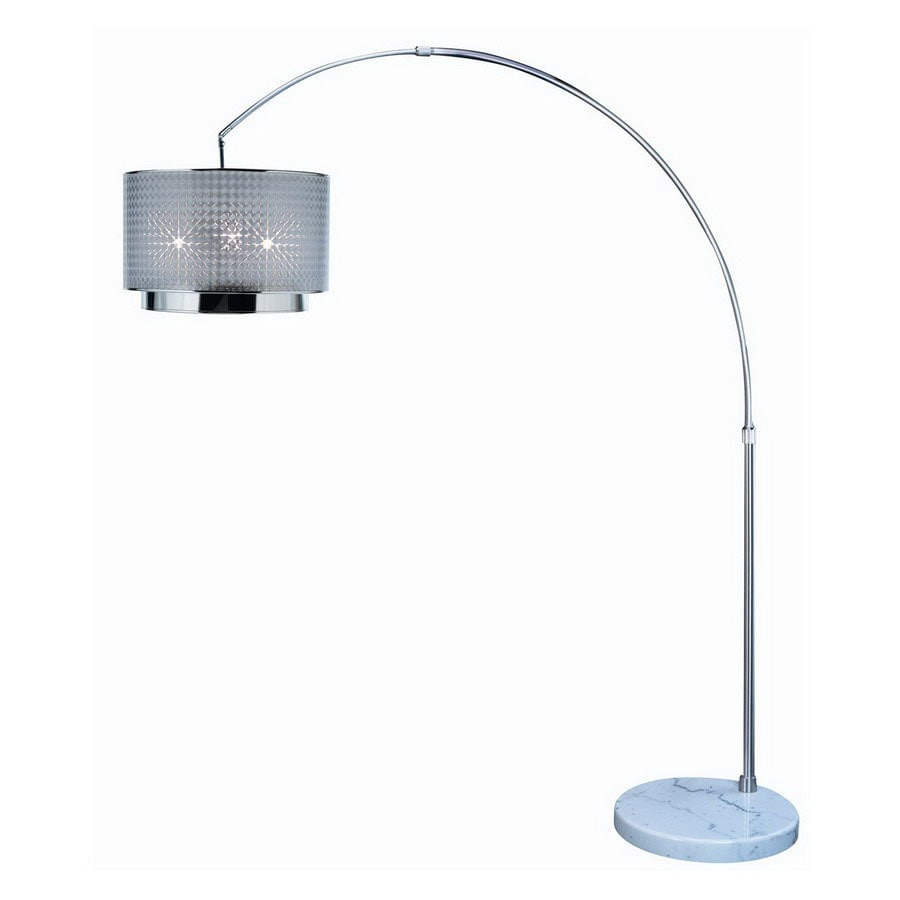 Trend Lighting 69-in Brushed Nickel Floor Lamp with Plastic Shade