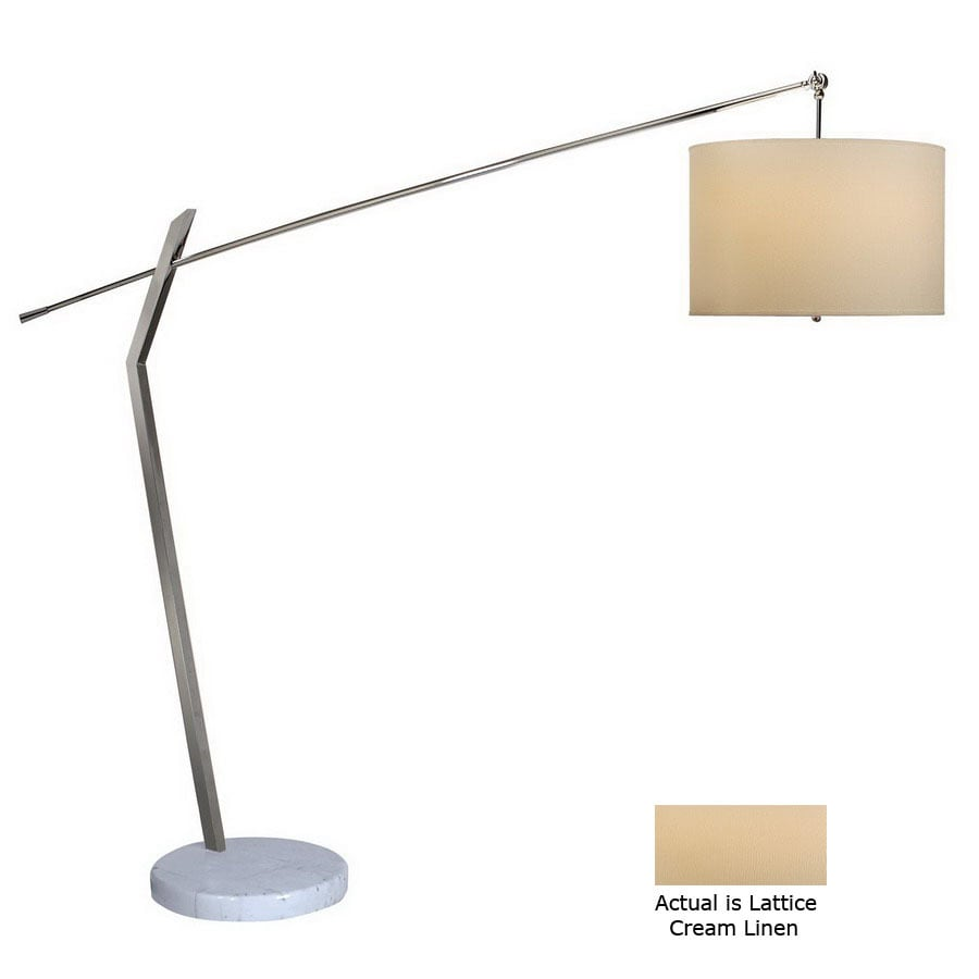 Trend Lighting 77-in Polished Chrome Shaded Floor Lamp Indoor Floor Lamp with Fabric Shade