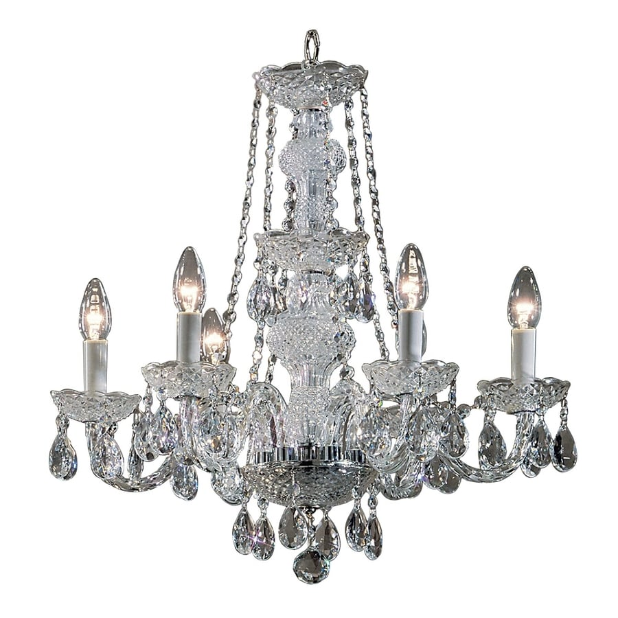 Classic Lighting Monticello 22-in 6-Light Chrome Crystal Candle Chandelier