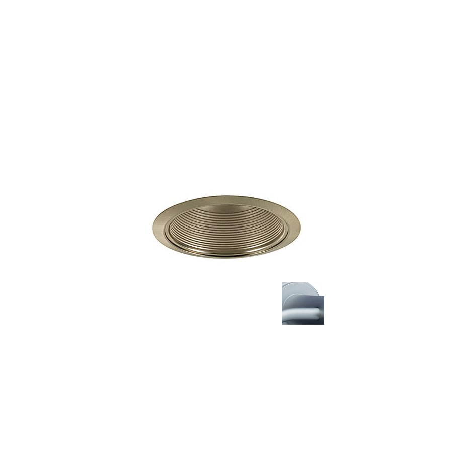 JESCO Satin Chrome Baffle Recessed Light Trim (Fits Housing Diameter: 6-in)