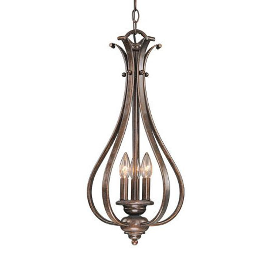 Cascadia Lighting Monrovia 11.25-in Royal Bronze Vintage Single Cage Pendant