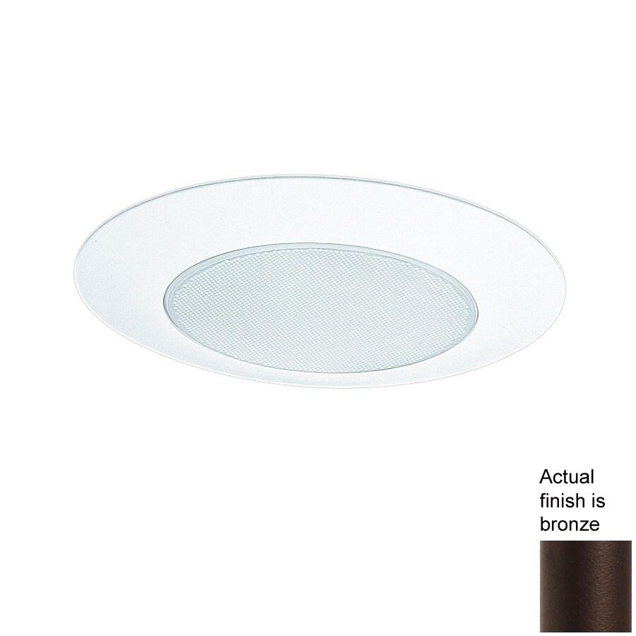 Nicor Lighting Bronze Shower Recessed Light Trim (Fits Housing Diameter: 6-in)
