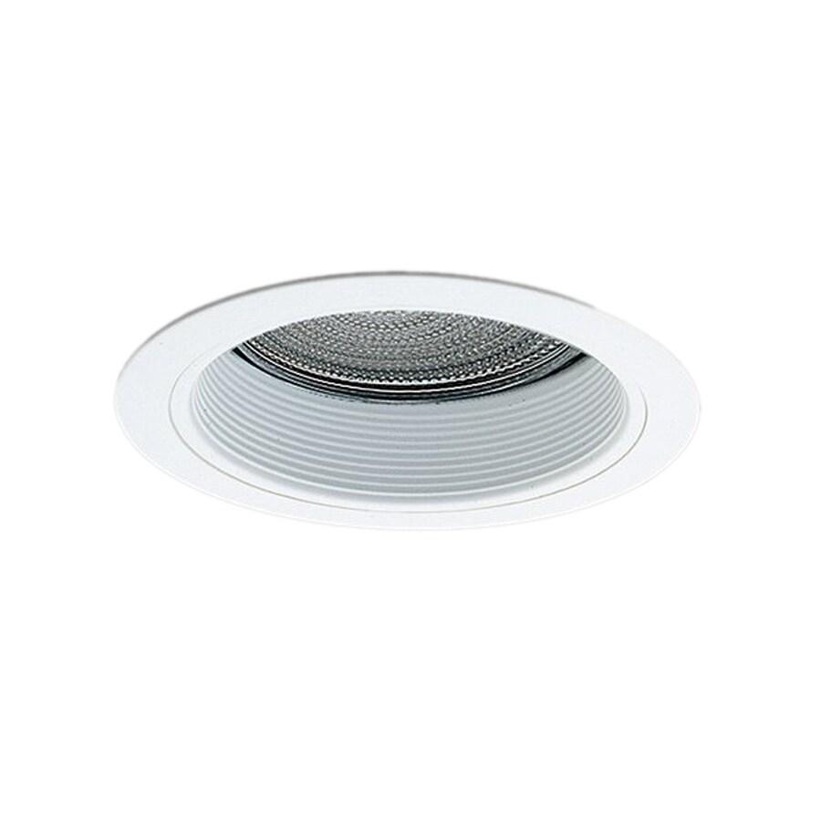 Nicor Lighting White Baffle Recessed Light Trim (Fits Housing Diameter: 6-in)