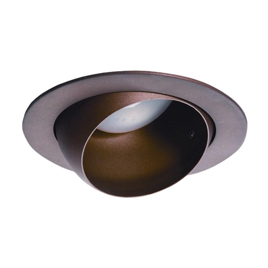 Nicor Lighting Bronze Eyeball Recessed Light Trim (Fits Housing Diameter: 4-in)