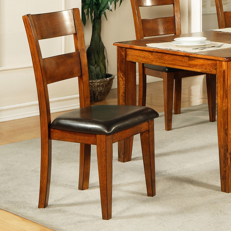 Steve Silver Company Set of 2 Mango Burnished Medium Brown Cherry Side Chairs