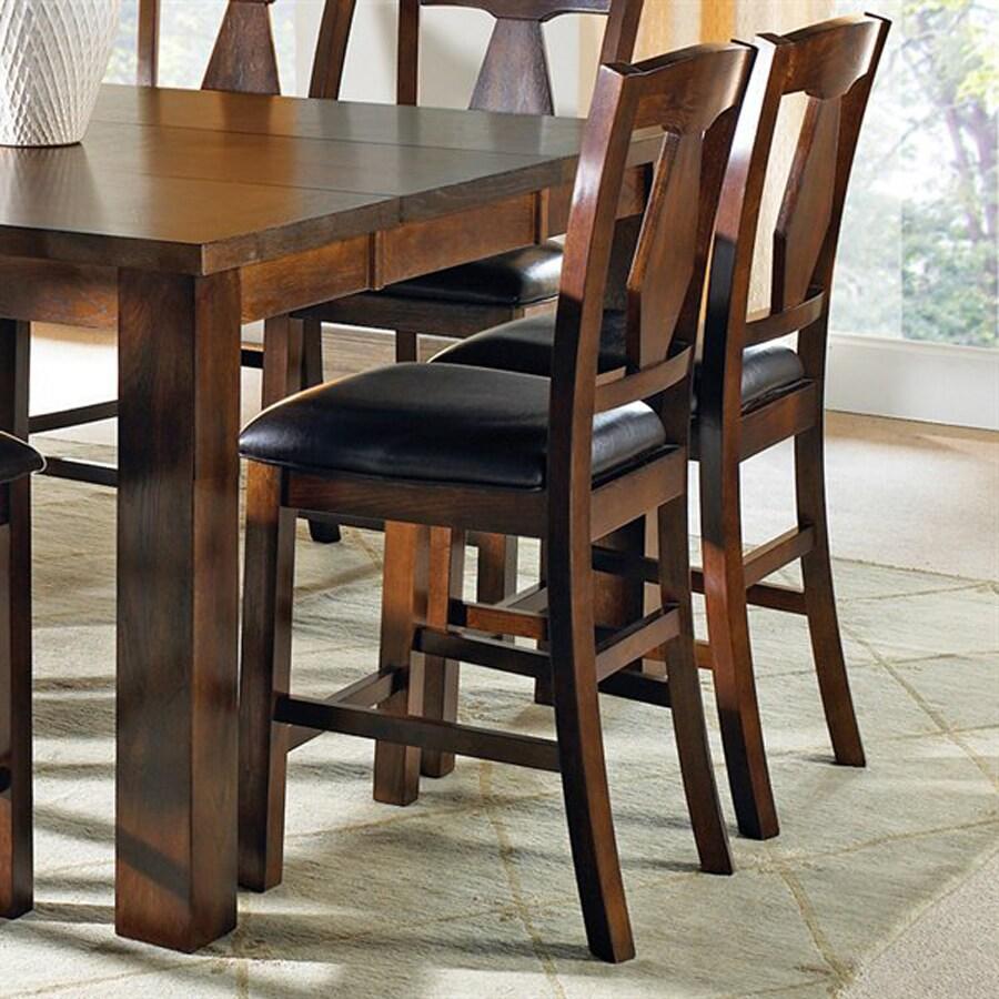 Steve Silver Company Set of 2 Lakewood Burnished Medium Oak Side Chairs