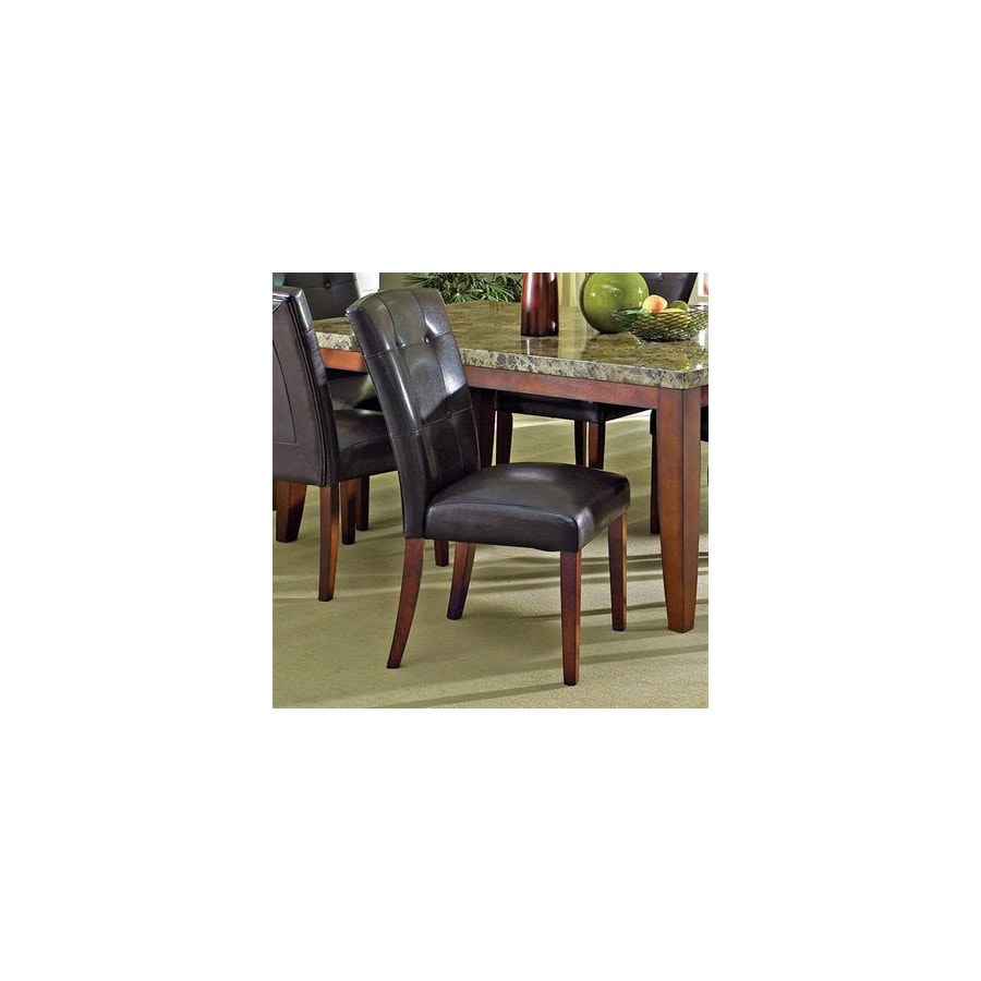Steve Silver Company Set of 2 Montibello Rich Cherry Dining Chairs