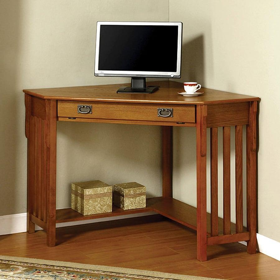 Furniture of America Toledo Medium Oak Corner Desk