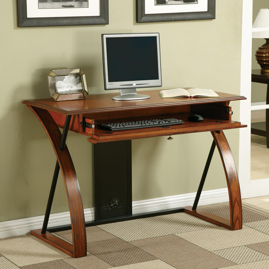 Office Star Osp Designs Medium Oak Computer Desk