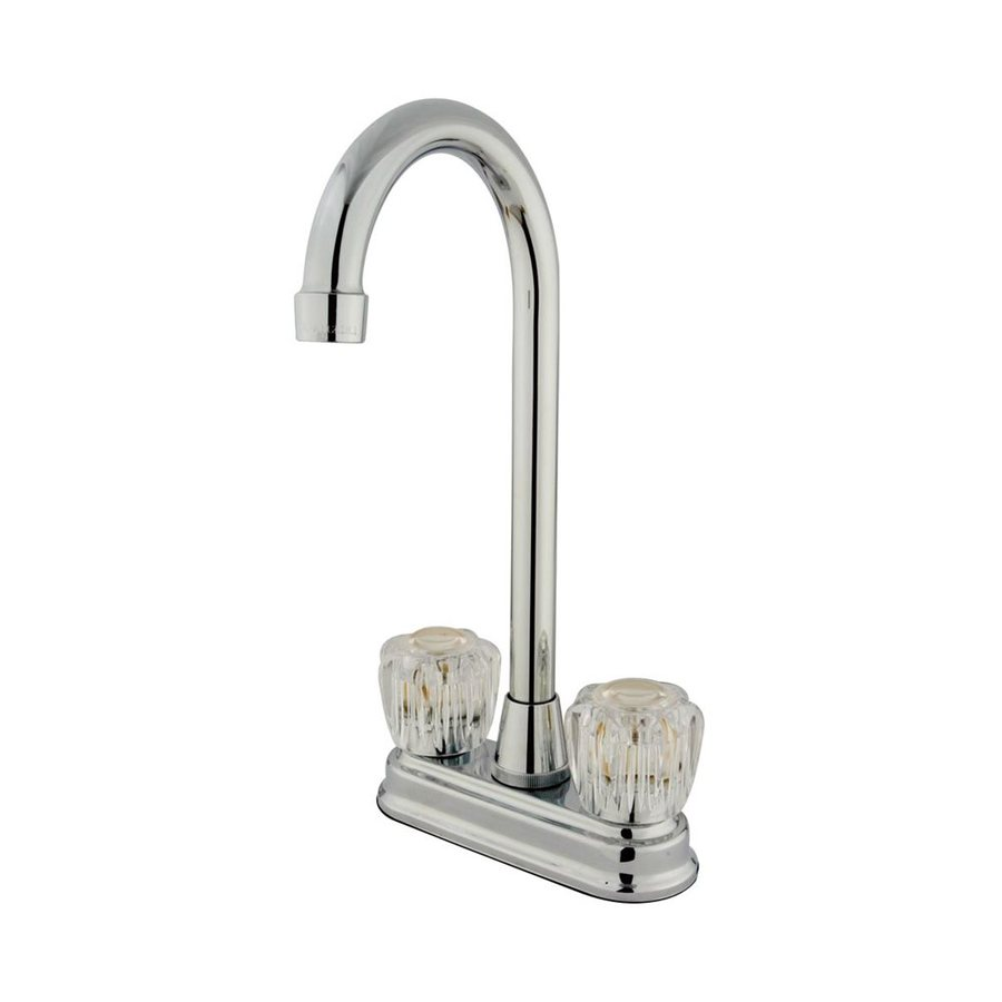 Elements of Design Magellan Chrome 2-Acrylic Handle Bar and Prep Faucet