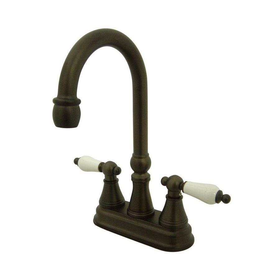 Elements of Design Oil-Rubbed Bronze 2-Porcelain Handle Bar and Prep Faucet