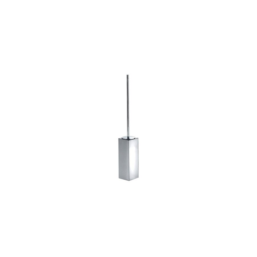 WS Bath Collections Metric Polished Chrome Stainless Steel Toilet Brush Holder