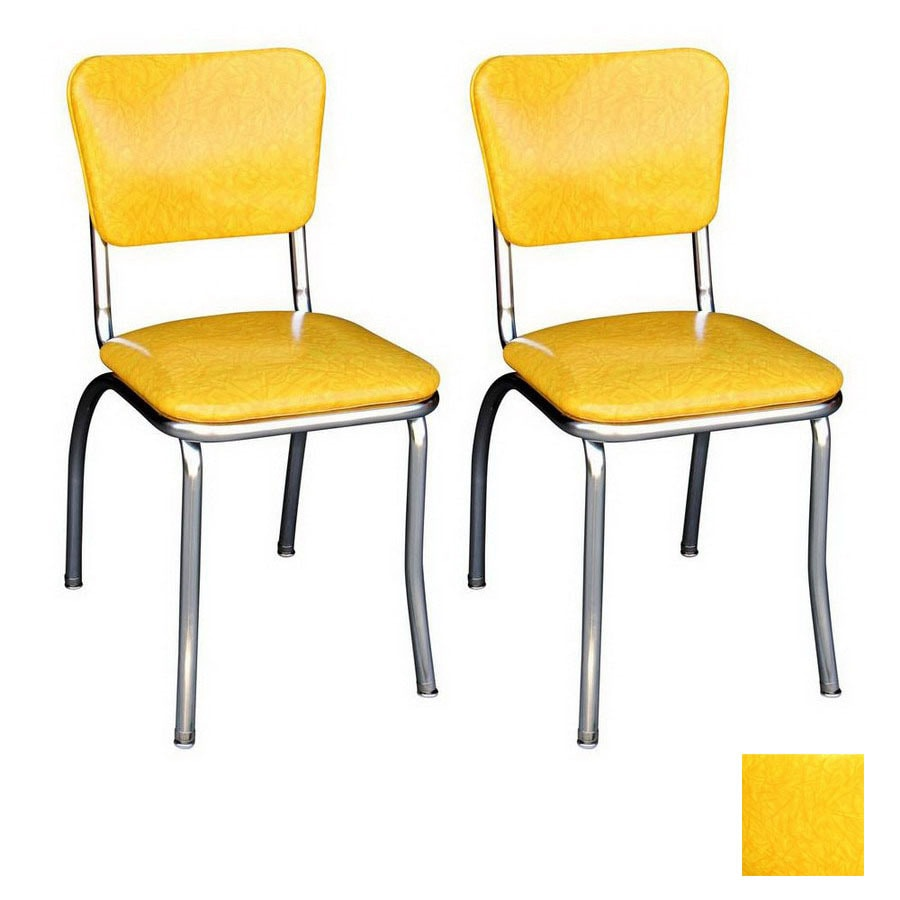 Shop richardson seating 50 39 s retro chrome stackable dining for Dining room chairs 50