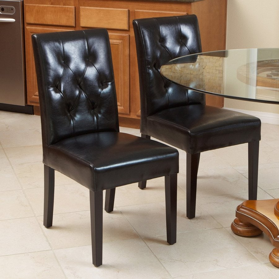 Best Selling Home Decor Set of 2 Gentry Black/Espresso Side Chairs