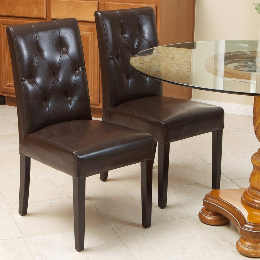 Best Selling Home Decor Set of 2 Gentry Java/Espresso Side Chairs