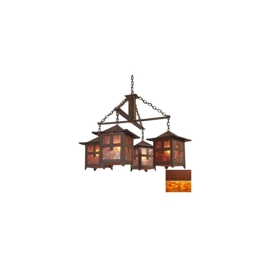 Shop Steel Partners 4 Light Hillcrest Rust Chandelier At