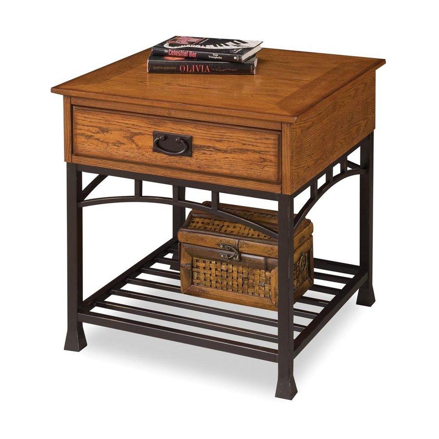 Home Styles Modern Craftsman Oak Poplar Square End Table