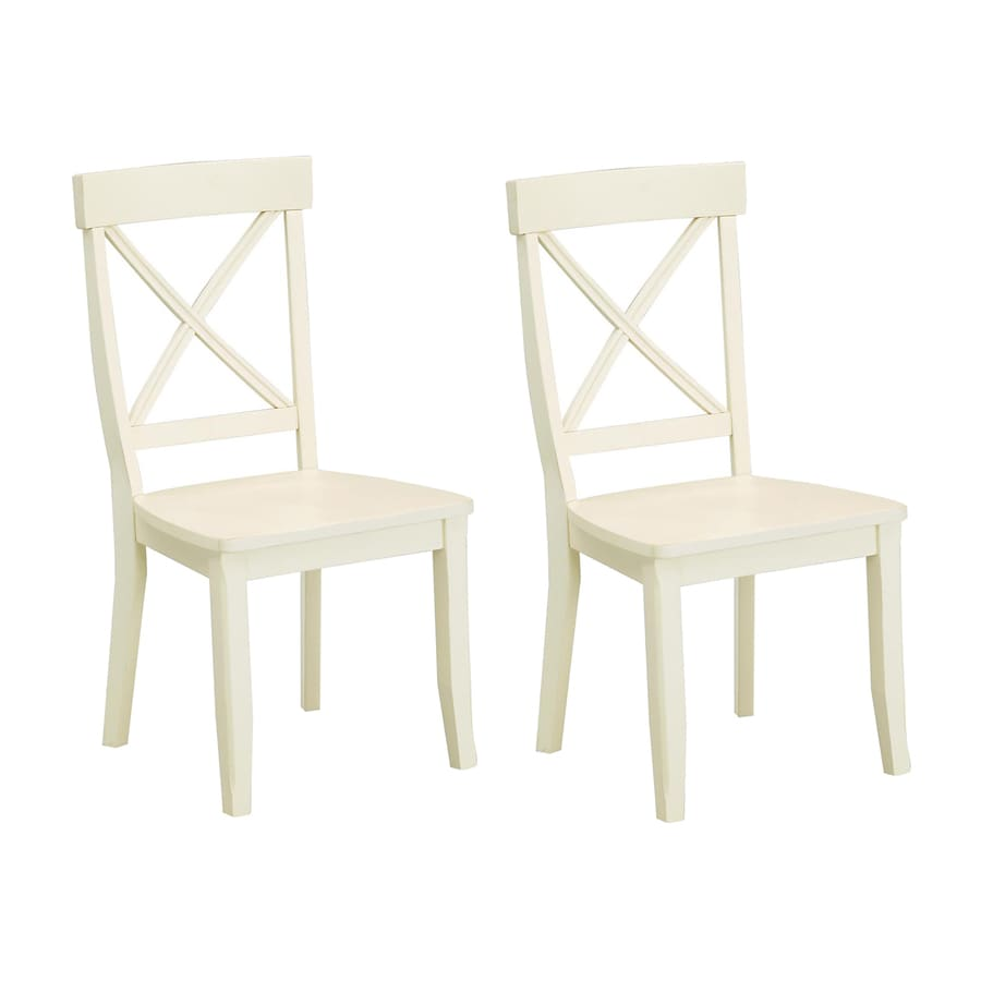 Home Styles Set of 2 Antique White Side Chairs