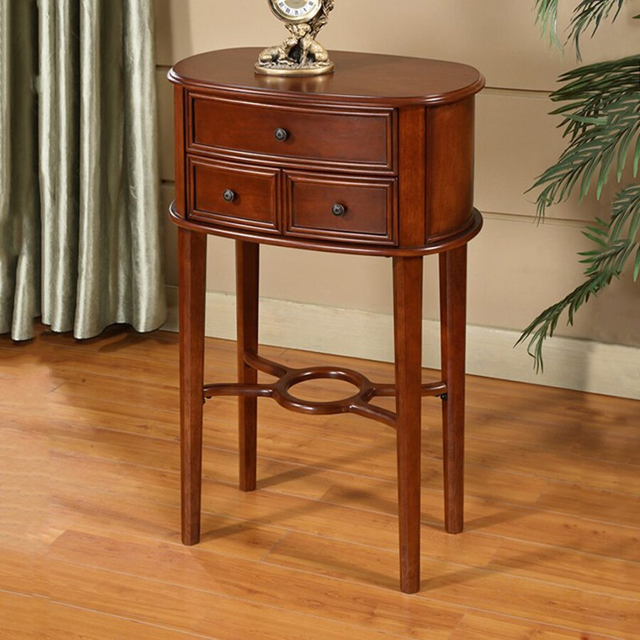 Shop All Things Cedar Cherry Birch Oval End Table At