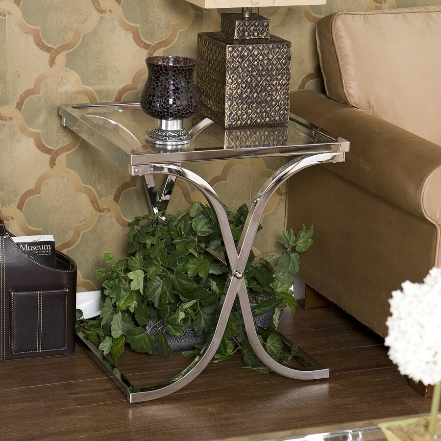 Boston Loft Furnishings Vogue Chrome Metal Square End Table