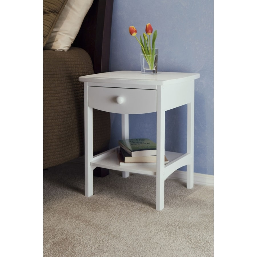 Winsome Wood White Composite Square End Table