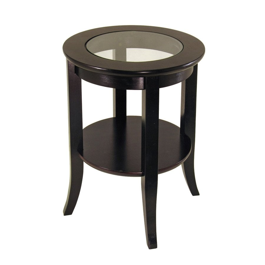 Winsome Wood Dark Espresso Round End Table