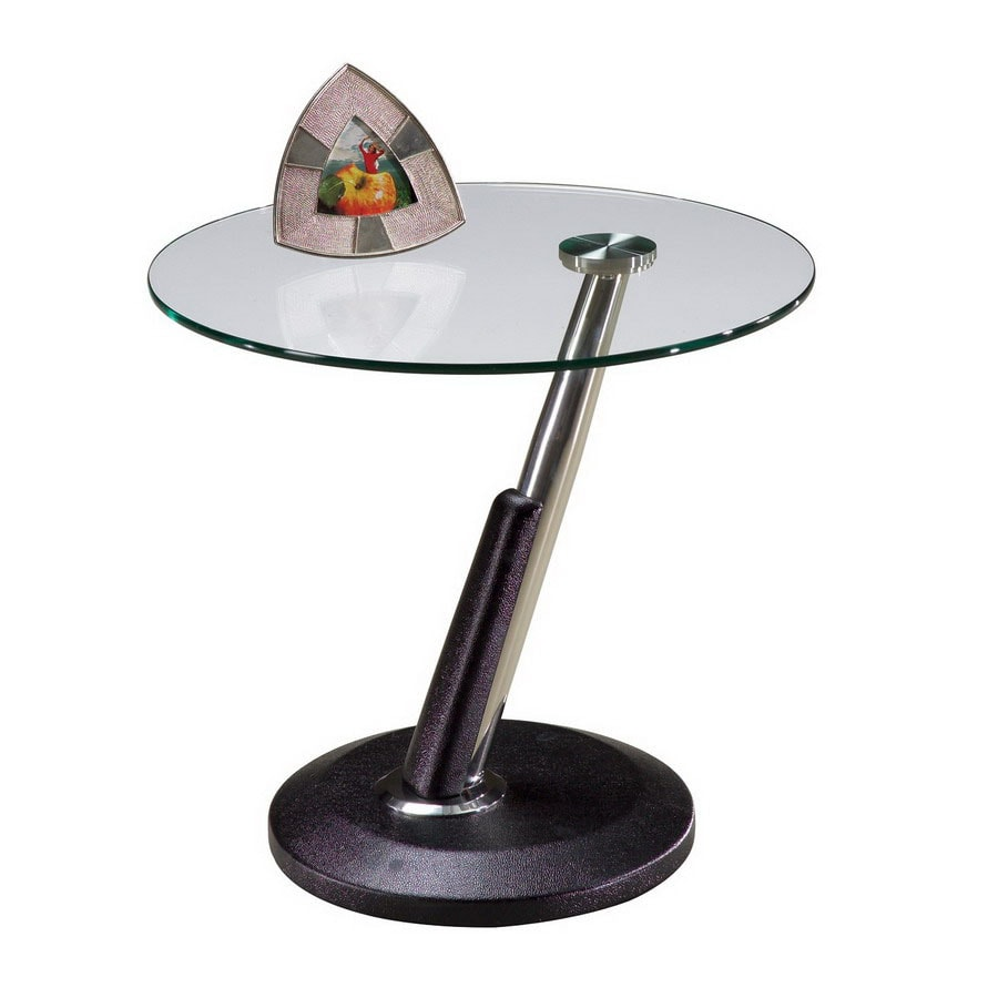 Magnussen Home Modesto Synthetic Black Round End Table