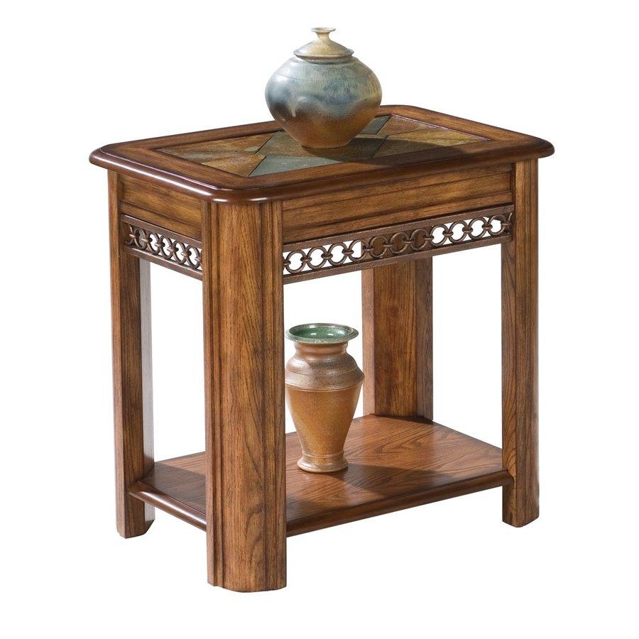 Magnussen Home Madison Warm Nutmeg Rectangular End Table