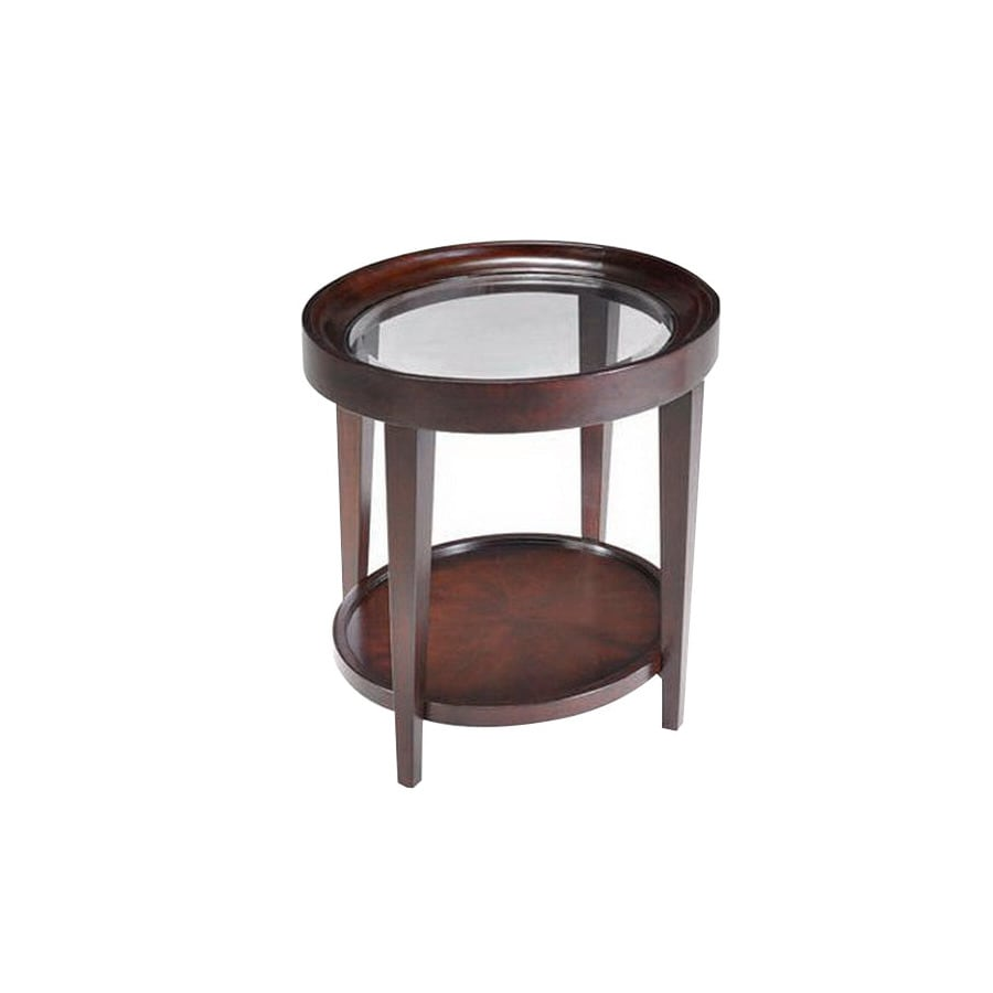 Shop Magnussen Home Carson Sienna Cherry Oval End Table At