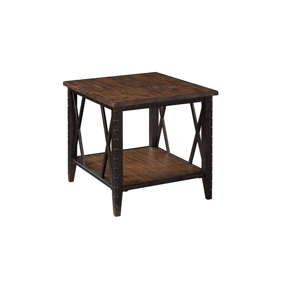 Magnussen Home Fleming Rustic Pine Rectangular End Table