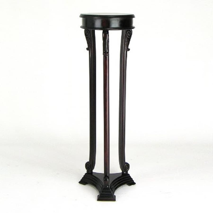 Pedestal Plant Stands ~ Shop wayborn furniture louis in indoor round wood plant