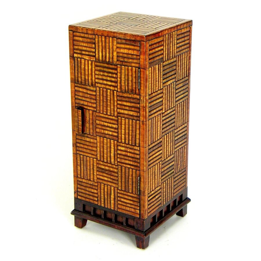 Shop Wayborn Furniture Bamboo 30 5 In Indoor Rectangular Wood Plant Stand At