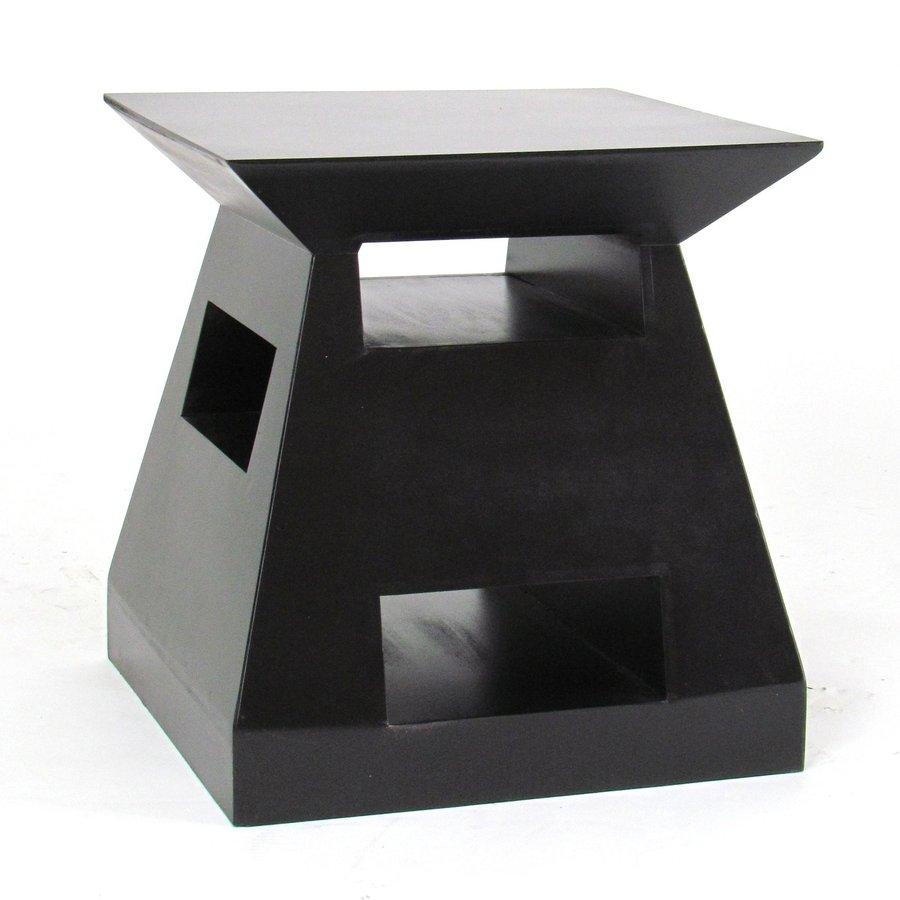 Wayborn Furniture Dark Brown Basswood Square End Table