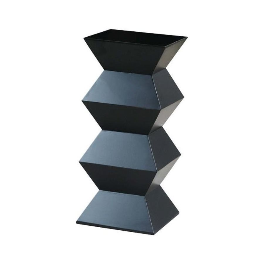 Wayborn Furniture Obit 36-in Black Indoor Square Wood Plant Stand