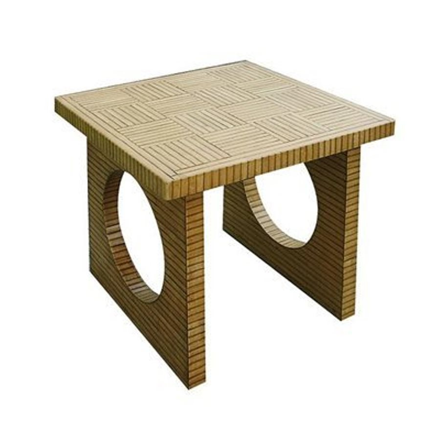 Wayborn Furniture Bamboo Brown Square End Table