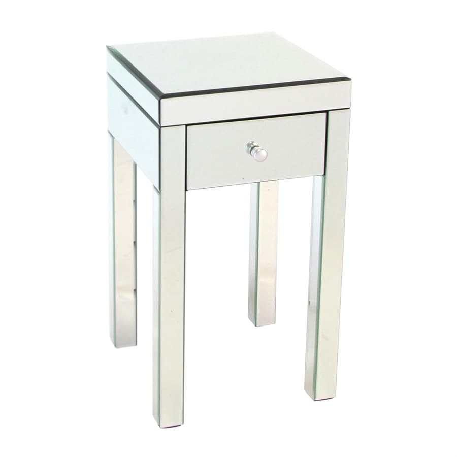 Shop wayborn furniture mirror pine square end table at for Square side table
