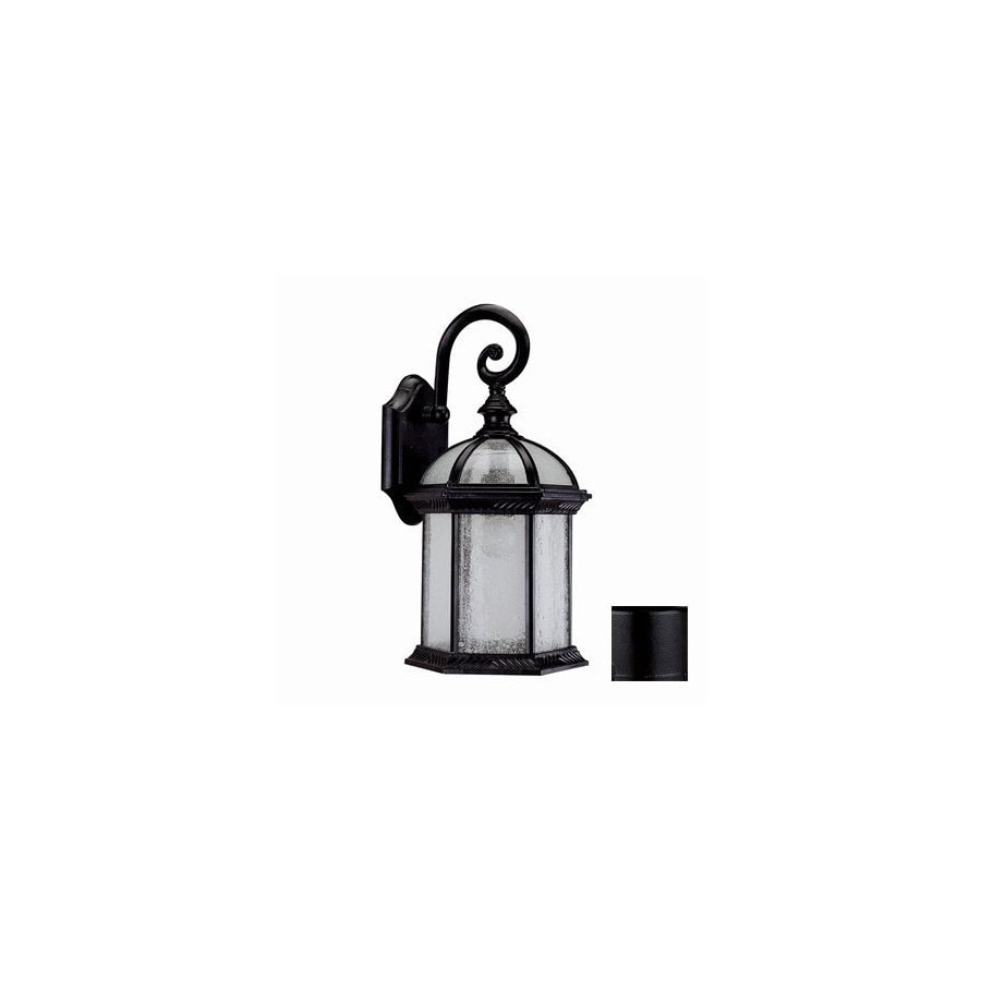 DVI Hexagon 15-1/2-in Black Outdoor Wall Light