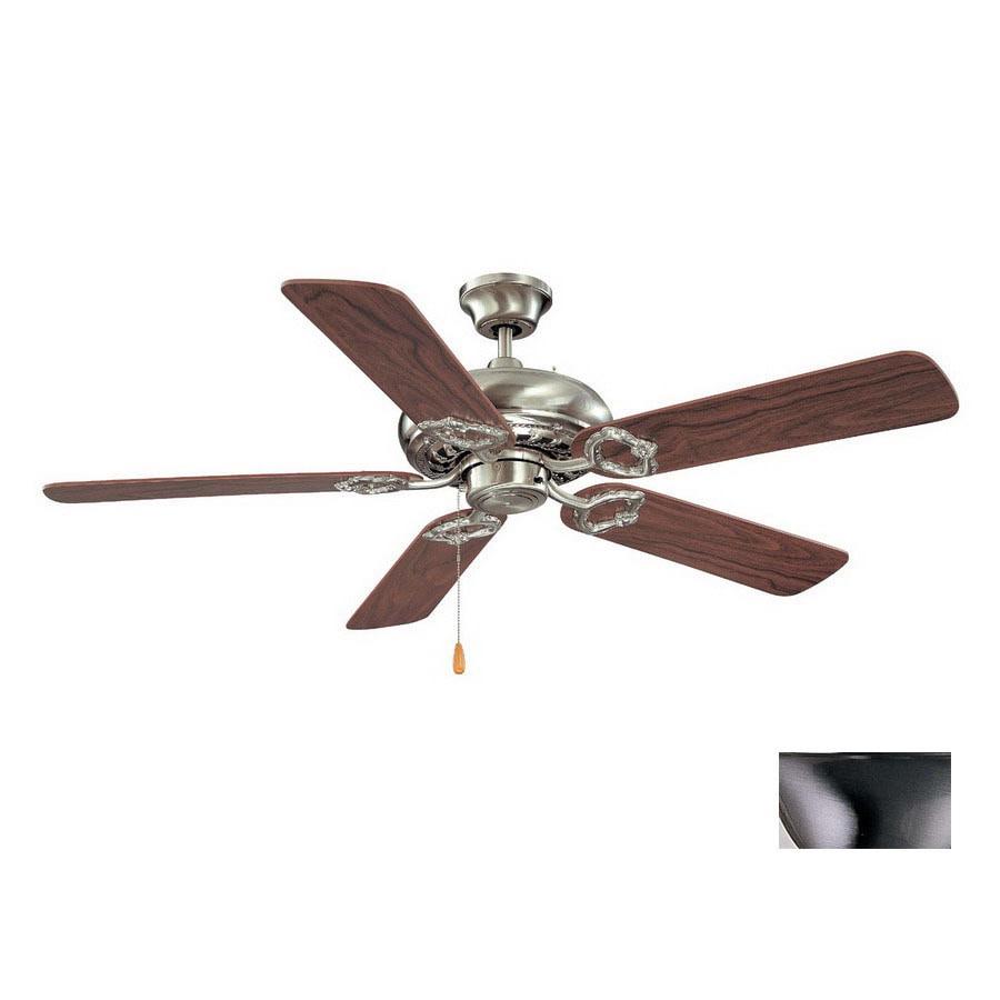 Volume International 52-in Brushed Nickel Ceiling Fan