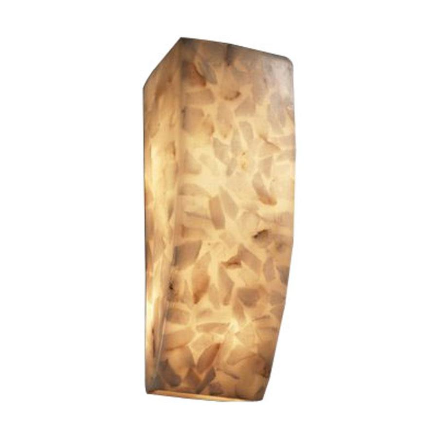 Cascadia Lighting Alabaster Rocks 5.5-in W 1-Light Pocket Hardwired Wall Sconce