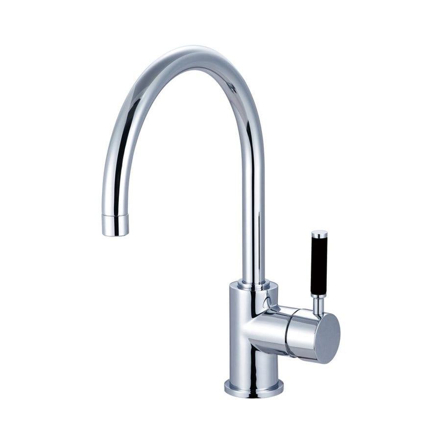 Shop Elements Of Design Kaiser Polished Chrome 1 Handle High Arc Kitchen Faucet At