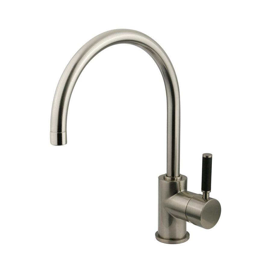 Elements of Design Kaiser Satin Nickel 1-Handle High-Arc Kitchen Faucet