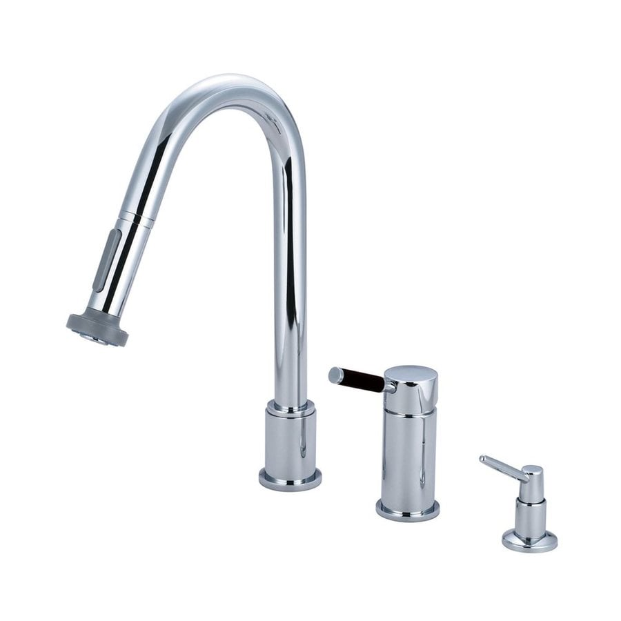 Elements of Design Kaiser Polished Chrome 1-Handle Pull-Out Kitchen Faucet with Soap Dispenser