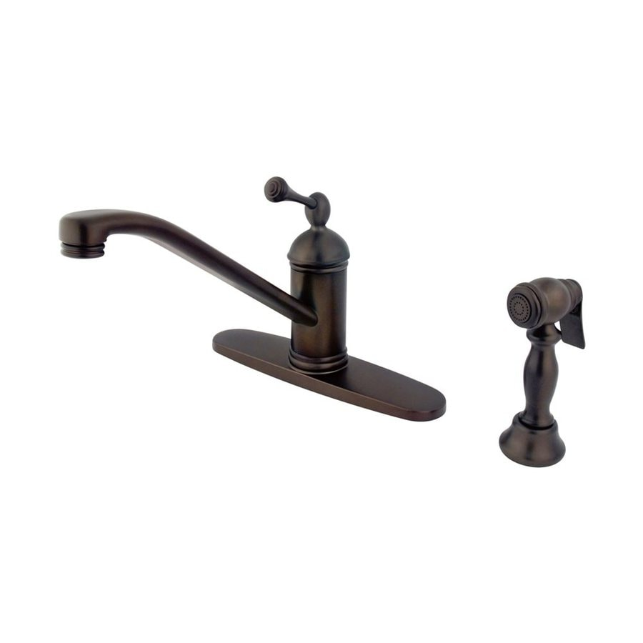 Elements of Design Vintage Oil-Rubbed Bronze 1-Handle Low-Arc Kitchen Faucet with Side Spray