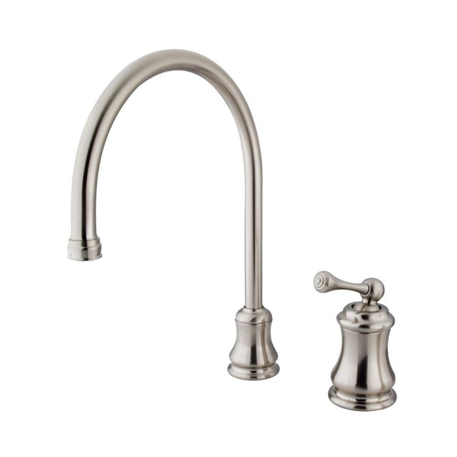 Elements of Design Chicago Satin Nickel 1-Handle High-Arc Kitchen Faucet